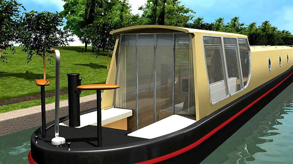 Interior Designer | Walnut Designs | Narrowboat Concept 3D Walkthrough